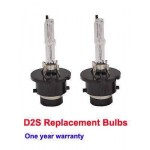 D2S 6000K HID XENON PAIR / Two REPLACEMENT BULB Lamp Bright White Light New DS2